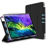 新発売 iPad pro 11 ケース 2020 三つ折りスマート オートスリープ 磁気吸着 Apple Pencil対応 ワイヤレス充電可 留め具付き 2モードスタンド