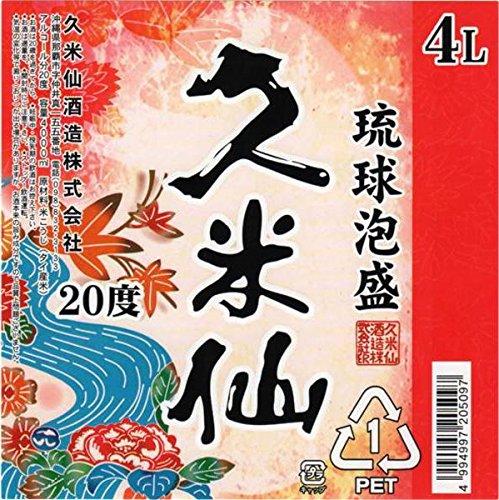 久米仙酒造 久米仙 泡盛ペット 20度 4000ml