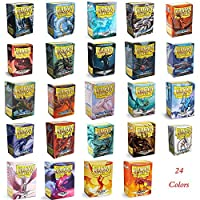 66x91mm 100 PCS/LOT Color Matte Cards Demark Dragon Shield Cards Sleeve MGT Cards Protector for PKM, Star Reals Card COVER