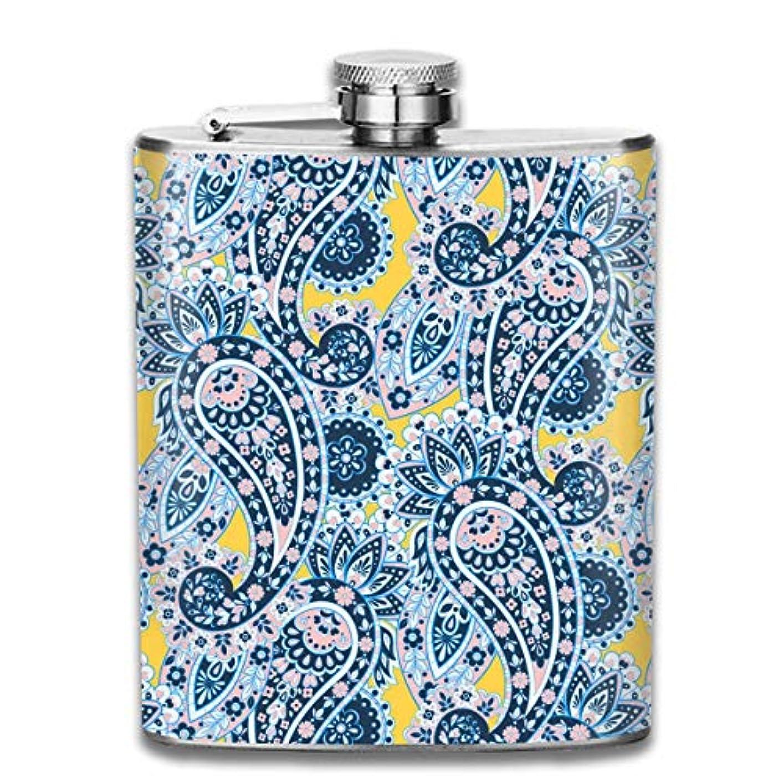 パケット精神伝説ペイズリーフラスコ スキットル ヒップフラスコ 7オンス 206ml 高品質ステンレス製 ウイスキー アルコール 清酒 携帯 ボトル