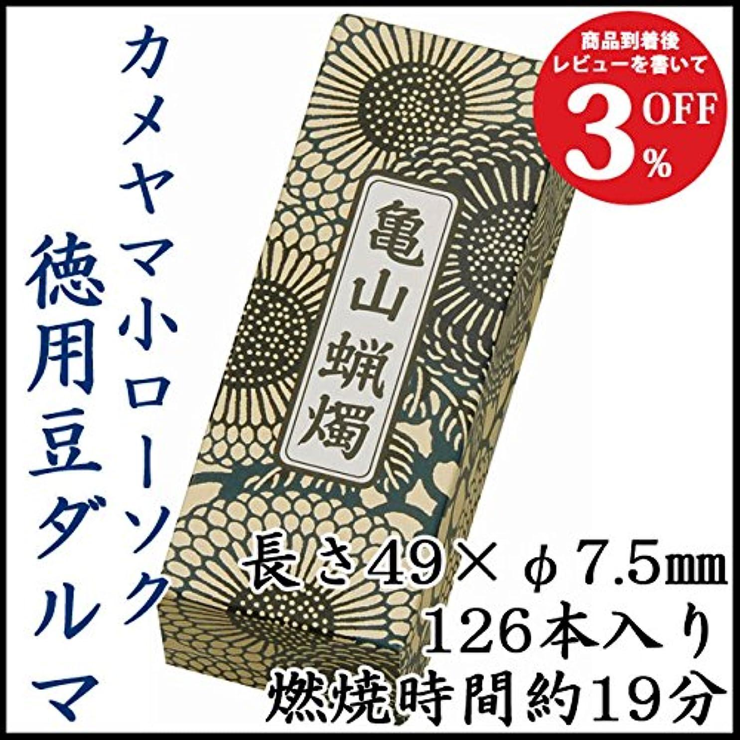 津波市長日食カメヤマ小ローソク 徳用豆ダルマA#151 225g
