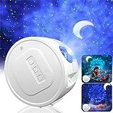 Star Projector,Garwarm Starry Sky Projector,3 in 1 Ocean Wave Laser Projector w/LED Nebula Cloud& Moon,Voice Control&Timer Ni