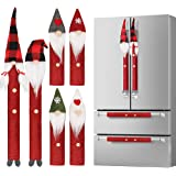 D-FantiX Gnome Christmas Refrigerator Handle Covers Set of 8, Adorable Swedish Tomte Kitchen Appliance Handle Covers Microwav