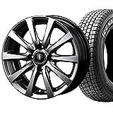【2017年製】国産スタッドレスタイヤ(145R12 6PR)+ホイール(12インチ)4本SET(1台分)■Cセット:マナレイ ユーロスピードG-10[メタリックグレー]