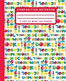 Composition Notebook: Colorful Word Cloud School Composition Notebook Wide Ruled Journal For Writing Blank Lined Workbook for Students For School Homework