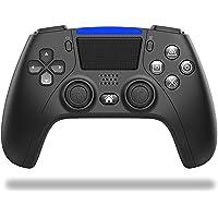 PS4 コントローラー 無線 最新バージョン 背面ボタン搭載 1000mAh大容量 二重振動 ジャイロセンサー機能 イヤ…