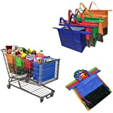 Ezonedeal LRG Cooler Bag & Egg/Wine Holder! Reusable Grocery Cart Bags Sized for Australia. Eco-Friendly 4-Bag Grocery Tote.1