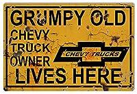 Chevy Truck所有者Lives Here駐車場サイン12x 18