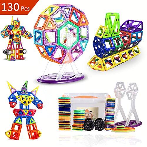 [해외]적목 교육 장난감 자석 장난감 축하 선물 어린이 장난감 창의력과 상상력을 키우는 (130 피스)/Building intellectual educational toys magnetic toys festive present gifts toy nurture creativity and imagination (130 pieces)