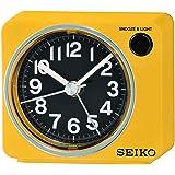セイコークロック(Seiko Clock) 置き時計 黄 本体サイズ: 6.4×7.4×5.4cm 目覚まし時計 アナログ BC415Y