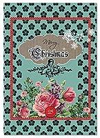 NobleWorks ''A Rosy Christmas'' Funny Merry Christmas Greeting Card 5'' x 7'' (C1761EXSG) [並行輸入品]