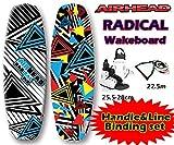 AIRHEAD ラディカル ウェイクボード 3点セット 25.5-28cm