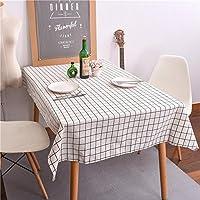 リネンテーブルクロス格子お祝い用品ホテルコーヒーテーブル食器雑巾 , white , 90*90cm