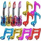 ギター風船 音符バルーン 楽器おもちゃ 子供 大人 ベビーシャワー 100日 半歳 1歳 誕生日パーティー飾り プレゼント イベント飾り付け