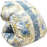 京都金枡 国産 羽毛 布団 ダブル 190×210cm ブルー ホワイトダウン85% 1.7kg 国内パワーアップ加工