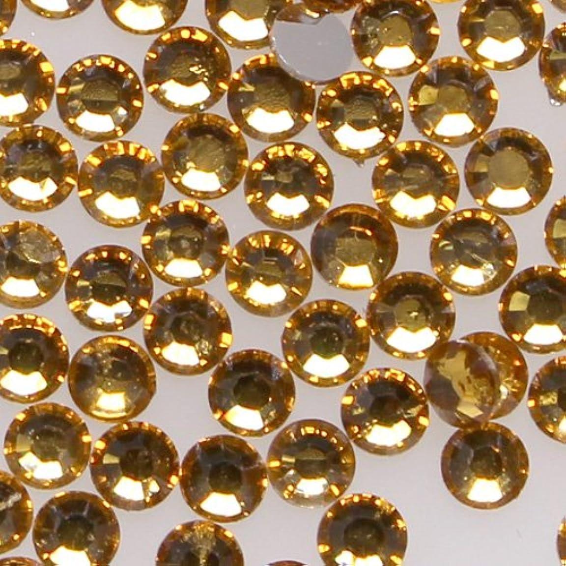 南極医薬部分高品質 アクリルストーン ラインストーン ラウンドフラット 約1000粒入り 4mm トパーズ