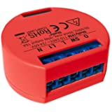 Shelly Wi-Fi Relay Switch with Wattometer 1PM red (2 Pack)