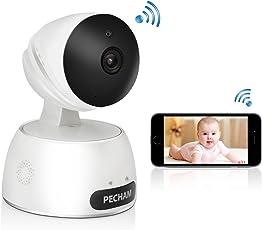 ネットワークカメラ 双方向会話 暗視撮影 遠隔操作 IPカメラ ペットカメラ 子供見守り パソコン スマホ対応 高画質 webカメラ 1年品質保証