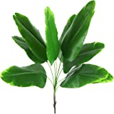 Bird Fiy Artificial Plant Banana Tree Leaves with Stems Faux Palm Tree Imitation Frond Artificial Leaf Tropical Plants Greene