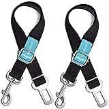 Duke & Dixie Dog Seat Belt Pet Dog Cat Car Seatbelt Safety Tether - 2 Pack - Adjustable Harness Belts Pet Leash - Heavy Duty