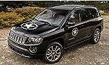 ホワイト陸軍五角形の車のステッカー/フードステッカー/サイドドアステッカー/リアウインドシールドステッカー/ジープ、CRV、SUV