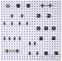 Wall Command WC18-WH-Kit Square Hole Pegboard and Locking Hook Organizer System, White [並行輸入品]