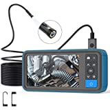 """Pipe Sewer Inspection Camera, Dual Lens 1080P Industrial Endoscope, 4.5"""" Screen Waterproof Borescope Snake Camera with 6 LED,"""