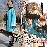 黒崎良品 沖田総司 桜saber ウィッグ付き Fate/Grand Order FGO 風 コスプレ衣装 (L)