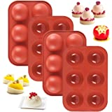 Medium Semi Sphere Silicone Mold, 4 Packs Baking Mold for Making Hot Chocolate Bomb, Cake, Jelly, Dome Mousse