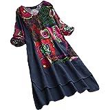 Women's Deep V Neck Short Sleeve Loose High Low Hem Long Dress