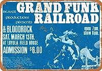 Shimaier 壁の装飾 メタルサイン 1971 Grand Funk Railroad in New Orleans ウォールアート バー カフェ 縦30×横40cm ヴィンテージ風 メタルプレート ブリキ 看板