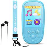 AGPTEK Bluetooth MP3 Player for Kids, 8GB Children Music Player 2.4 Inch HD Screen with Built-in Speaker, 10 Lullabies, FM Ra