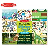 Melissa & Doug Reusable Sticker Pad: Habitats - 150+ Reusable Stickers