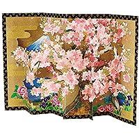 サンリオ クリスマスカード 和風 立体 桜屏風 S7027