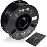 OVERTURE PLA Filament 1.75mm with 3D Build Surface 200mm x 200mm 3D Printer Consumables, 1kg Spool (2.2lbs), Dimensional Accu