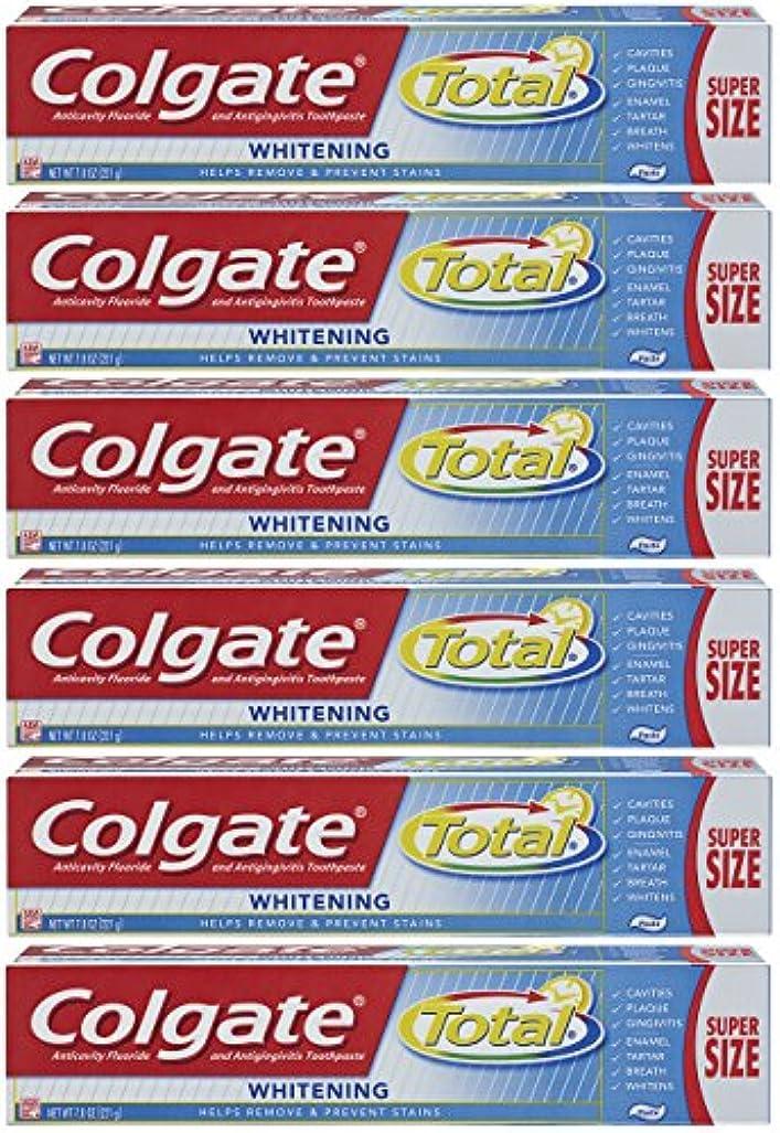 アカウント姿を消すモノグラフColgate トータルプラスホワイトニングの歯磨き粉、7.8オンスチューブ(6パック)