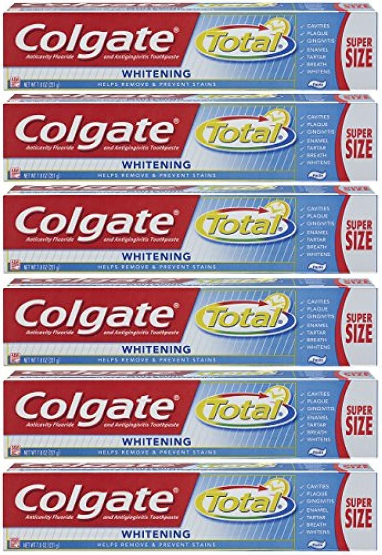 Colgate トータルプラスホワイトニングの歯磨き粉、7.8オンスチューブ(6パック)