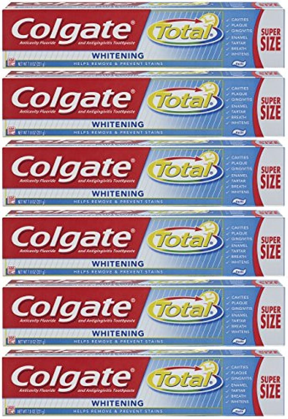 石膏バラ色前提条件Colgate トータルプラスホワイトニングの歯磨き粉、7.8オンスチューブ(6パック)