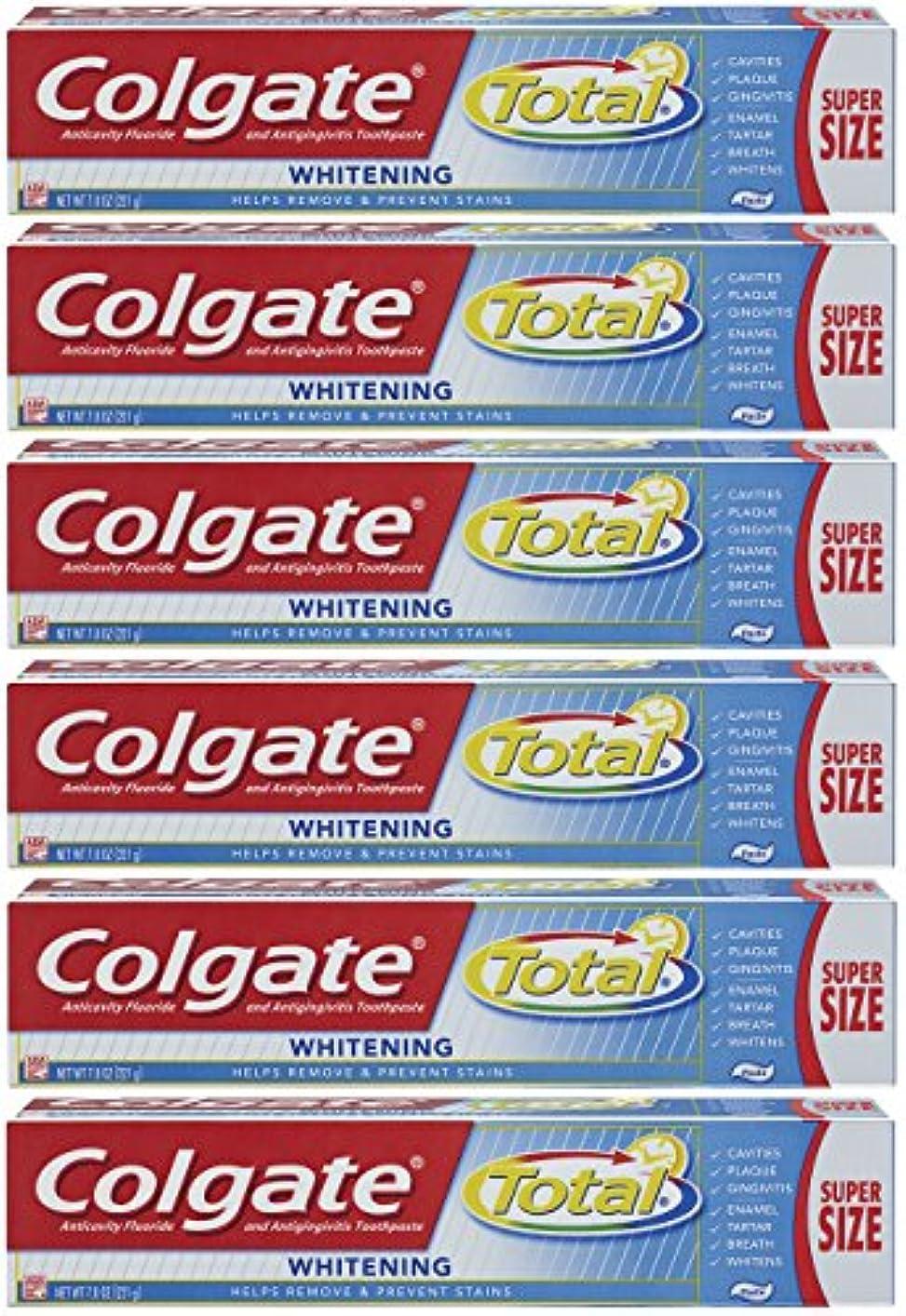 キリン変装不忠Colgate トータルプラスホワイトニングの歯磨き粉、7.8オンスチューブ(6パック)