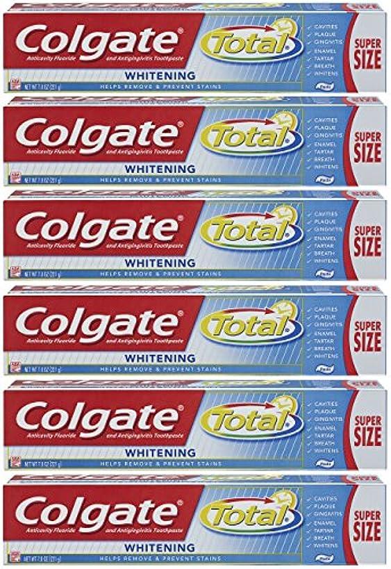 すずめ無謀祈りColgate トータルプラスホワイトニングの歯磨き粉、7.8オンスチューブ(6パック)