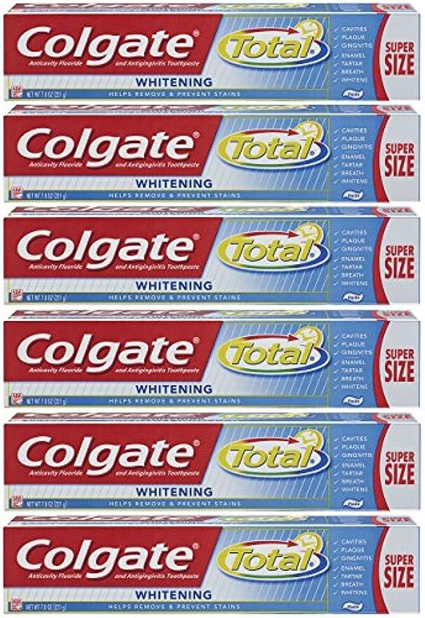 同等のつかいますマキシムColgate トータルプラスホワイトニングの歯磨き粉、7.8オンスチューブ(6パック)