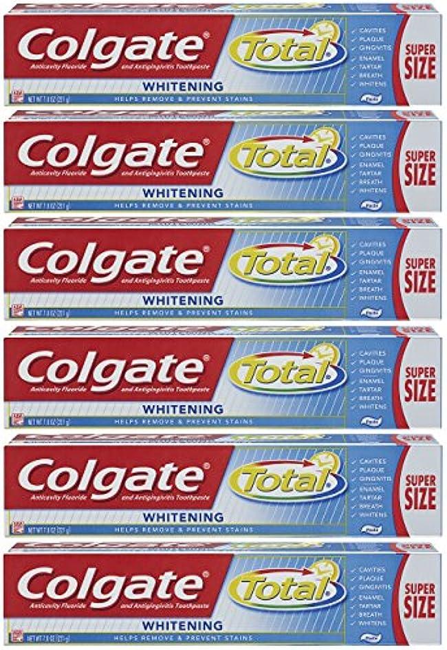 テロ値する苛性Colgate トータルプラスホワイトニングの歯磨き粉、7.8オンスチューブ(6パック)