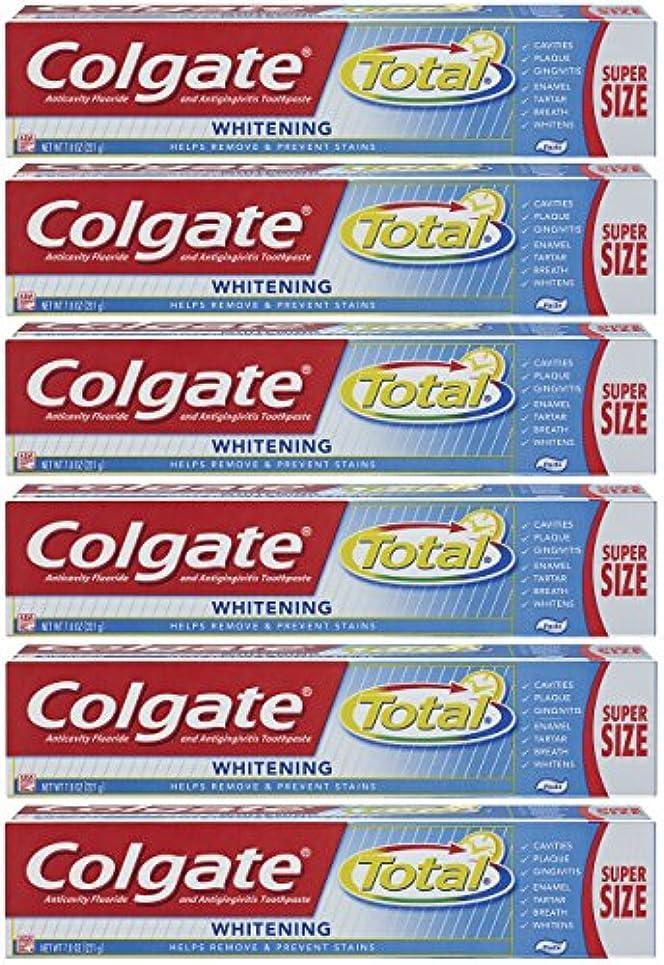 ダース不器用架空のColgate トータルプラスホワイトニングの歯磨き粉、7.8オンスチューブ(6パック)