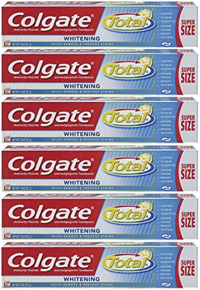 ベイビークルーズ迷彩Colgate トータルプラスホワイトニングの歯磨き粉、7.8オンスチューブ(6パック)