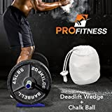 ProFitness Deadlift Wedge (Superior Jack Alternative) - Load & Unload Weightlifting Barbells with Round Plates Effortlessly - Lightweight, Compact Gym Bag Size - Cross Training, Powerlifting, Fitness
