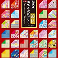 トーヨー 折り紙 和紙風 千代紙づくし 両面 15cm角 30柄 120枚入 018060