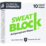 Sweatblock Antiperspirant For Men and Women - Clinical Strength Antiperspirant Wipes for Hyperhidrosis - Reduce Sweat Up To 7