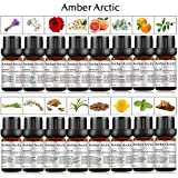 16-Pack 100% Pure Essential Oil Set - Sandalwood,Rose,Chamomile,Jasmine,Vetiver,Tea Tree,Frankincense,Lavender,Rosemary,Orange,Lemon, Peppermint,Grapefruit,Eucalyptus,Lemongrass,Cinnamon
