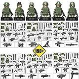 互換あり 陸軍、海兵隊、特殊部隊武器防具付き6体セット 警官フィグ1体セット