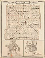 状態Atlas | 1876マップの新しい城、Knightstown。Henry郡(with)| Historicアンティークヴィンテージ再印刷 24in x 31in 562965_2431